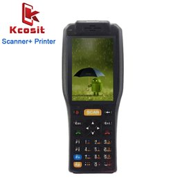 barcode reader android 2018 - Portable Mini Android Barcode Scanner 1D 2D Laser NFC Printer Payment Terminal Reader PDA Handheld Data Collector Waterp