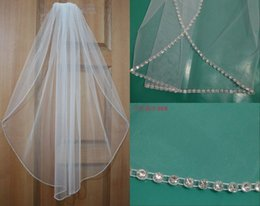 Beaded Veils White Australia - Beaded Vintage 2018 Cheap In Stock Bridal Veils Bridal Wedding Accessories Long Edged Formal Wedding Veils 047