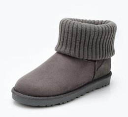 $enCountryForm.capitalKeyWord UK - Top quality Christmas Australia WGG tall Cotton boots winter Boot real leather Bailey Bowknot women's bailey bow Snow Boots Wool mouth Boots