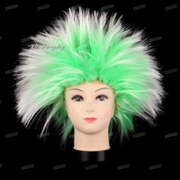 clown hair NZ - Clown Amazing Explosion of head Curly Hair Wig Fans Hats Headwear Birthday Party Decoration Halloween Christmas Masquerade