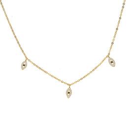 1e216111df5 three colors lovely cz evil eye charm necklace 100% 925 sterling silver  choker elegant women gift fashion jewelry chocker