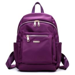 teenage girl shoulder bags 2019 - small waterproof nylon Fashion black shoulder bag Prepyp style backpack for teenage girl solid color zipper cheap teenag