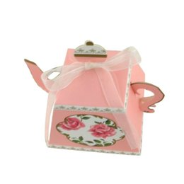Tea Box Diy Australia - candy box bag chocolate paper gift package for Birthday Wedding Party favor Decor supplies DIY vintage tea pot shaped Wh