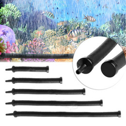 Chinese  10Pcs Lot Black Aquarium Air Stone Bubble Bar Wall Curtain Tube Hose Fish Tanks Pump Hydroponic Oxygen Diffuser Tube 20 30 45 60 9cm manufacturers