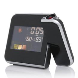 $enCountryForm.capitalKeyWord UK - Digital Alarm Clock Color Screen Projection Multi-function Alarm Clock Weather Time Desktop Clock Watch High Quality LCD Display