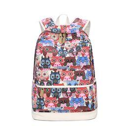 Owl Backpack Bag School UK - High Quality Female Backpack Lady Animal Owl Printing  Backpack School dcf3605bb71ef
