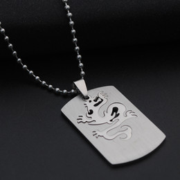 Necklaces Pendants Australia - 30 Stainless Steel Chinese Dragon Totem Charm Pendant Necklace Detachable 12 Zodiac Dragon Necklace God Beast Dragon Double layer Necklace