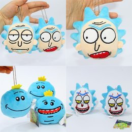Doll Decoration games online shopping - Soft Plush Doll Pendent Rick And Morty Q Edition Mr Meeseeks Backpack Hanger Stuffed Decoration Toy For Kids sj WW