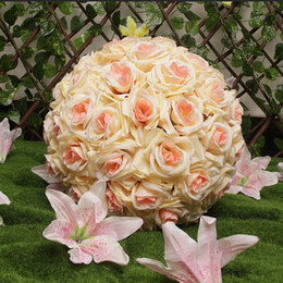 $enCountryForm.capitalKeyWord NZ - 10-60cm Artificial Rose Ball Artificial Flowers Pomander Roses Kissing Balls Fake Silk Flowers For Party Decoration Wedding Home Bar