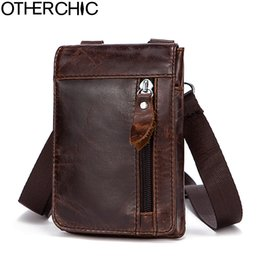 423342f34ed4 Otherchic Genuine Leather Small Bags Men Leather Belt Waist Pack Messenger  Bags Phone Pouch Fanny Pack Crossbody Bag L -7n07 -41