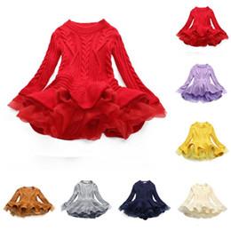 Knitted tutu dress online shopping - Baby Girls Knit Sweater Dresses Kids TUTU Dress Autumn Winter Thick Warm Princess Jumper Pullover Dress