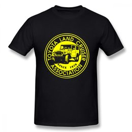 Camiseta del coche Boy Boy Descuento al por mayor Asociación de Land Cruiser Invertir Rund Yellow Rund Neck Tee Shirt Imprimir gráfico Camiseta
