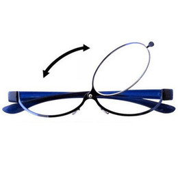 Metal Magnifiers online shopping - Fashion Makeup Reading Glasses Women Lady Make Up Eyeglasses Magnifying Eyewear Blue Metal Frame Magnifier Eye Reader