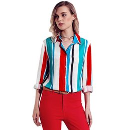 Suits Contrasting Lapels Australia - Women's autumn and winter new suit collar single-breasted contrast color long-sleeved business white-collar blouse shirt 10 colors