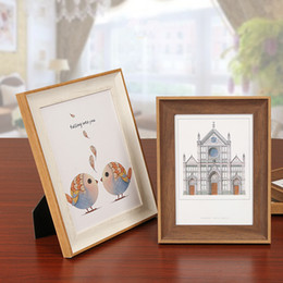 Photos Cartoons NZ - Cute Cartoon Picture Frame For Baby Kids 1 Piece Light Color Table Desktop Picture Frames For Home Decor Porta Retrato Moldura Family Photos