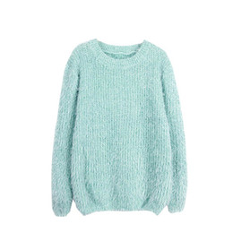 Soft Loose Knit Sweater UK - Mohair Sweater Women Blusas De Inverno Feminina Sueter Mujer Candy Color Loose Ladies Female Soft Comfortable Warm Pullovers