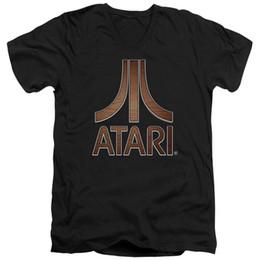 $enCountryForm.capitalKeyWord UK - Atari Slim Fit V-Neck T-Shirt Support Dropship Tee T-Shirt For Men Grand Art Short Sleeve Cotton Custom XXXL Men's Bass Player T Shirts