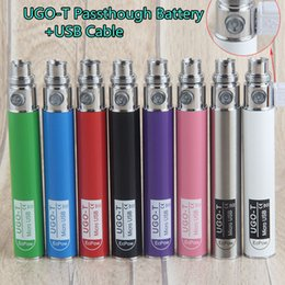 evod pen e cigarettes NZ - Vape EVOD 510 thread battery micro usb passthrough battery with USB Cable 650mah ugo-t vape batteries pen e cigarette e cigs