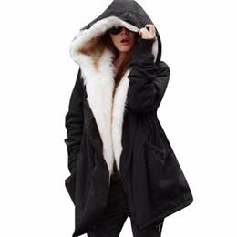 84a87adf2b58f Discount vintage army parka - Lisli Women Thicken Warm Winter Coat Hood  Parka Overcoat Long Women s