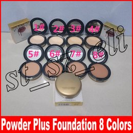 China 8 colors Face Powder Profession Makeup High Quality Powder Plus Foundation Press Make Up Face Makeup Puffs suppliers
