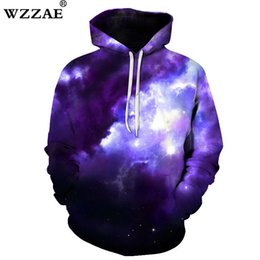 plus size space hoodie 2019 - WZZAE Space Galaxy Hoodies Hooded Men Women Hat 3d Sweatshirts Print Colorful Nebula Thin Autumn Sweatshirts Plus Size S