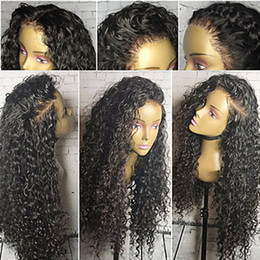 $enCountryForm.capitalKeyWord Canada - Human Hair Wig Brazilian Curly 150% Density With Baby Hair Glueless Natural Hairline Short Medium Long Women's Human Hair Lace Wig