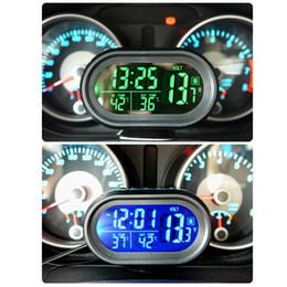 $enCountryForm.capitalKeyWord Australia - Automobile Clock Digital Car Thermometer Car Battery Voltmeter In Out temperature Meter Voltage Meter Tester Monitor Auto Gauge Clock 12 24V
