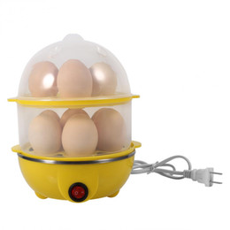 Portable Steamers NZ - 220v Multi -Functional Double -Layer Electric Eggs Boiler Cooker Steamer Home Kitchen Use (Yellow )
