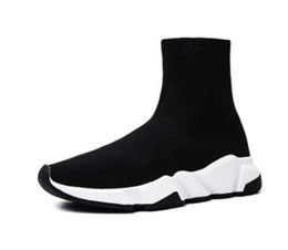 $enCountryForm.capitalKeyWord Australia - 2019 spring new black socks shoes high-knit elastic breathable tennis shoes youth men and women fashion casual red training shoes 36-45