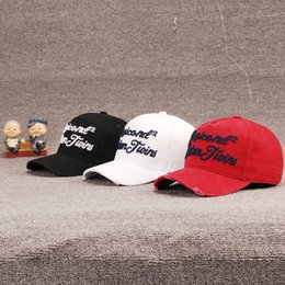 24048a1163e New D2 Baseball Caps Washed Frayed Cap High Quality Cotton Strapback Hat  Leisure Dad Cap Adjustable Trucker Hat Curved Brim ICON Sport Caps