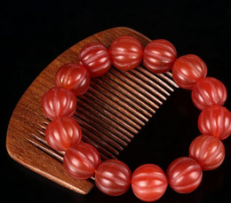 $enCountryForm.capitalKeyWord Australia - Pumpkin beads agate bracelet Brazil natural red agate bracelets men and women models red agate genuine wholesale