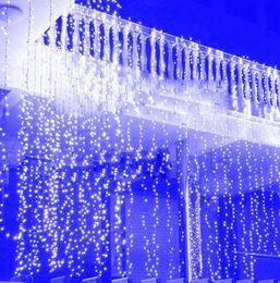 4.5 m * 3 m capodanno natale ghirlanda led stringa ghiacciolo luce interna coperta per la festa tenda da sposa bianco caldo / rgb / blu