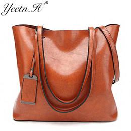 Discount ladies big hand bags - Yeetn.H Ladies Hand Bags Famous Brand Bags Logo Handbags Women Fashion Black Leather pochette Shoulder Bag Women Big Pur