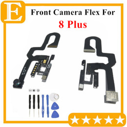Iphone Front Camera NZ - 100% OEM Front Camera For iPhone 7G 8+ 8 Plus Small Facing Camera Module With Proximity Light Sensor Flex Cable Replacement Parts 5PCS