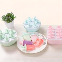 mould food 2019 - Popsicle Molds Tray Food Grade PP Material Frozen Ice Cream Maker, DIY Lolly Mould Yogurt Ice Box Kitchen Tools cheap mo