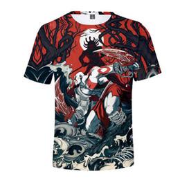 3d Character Printed Men S T Shirt NZ - New Hot God Of War 3D Print Character T shirt Men Women 2018 Casual Cotton O-Neck Hip hop streetwear T-shirts Tops Dropshipping