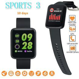 Kid Tracker Smart Watch NZ - Sport 3 Smart Watch Men Blood Pressure IP68 Waterproof Fitness Tracker Watch Kids Smartwatch For iphone IOS Android Phone