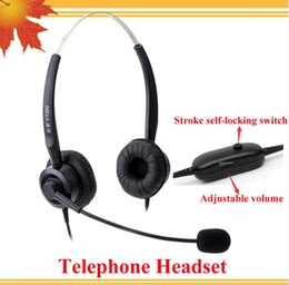 Headsets For Telephones NZ - Headphone for Call Center with RJ09 Plug with Volume Control and mute function phone headsets telephone headset