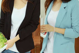 Office ladies jacket suits online shopping - Woman Business Suit Coat Long Sleeve Slim Blazer Mujer Office Suits for Women Ladies Blazer Jacket Color