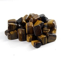 reiki healing wholesalers UK - 100g Natural tiger eye Tumbled Stone Healing Reiki Crystal Chakra Home Decor Garden Flower Decorative Irregular Stone