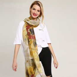 $enCountryForm.capitalKeyWord Australia - Style sheep adhesive printing graffiti scarves women cotton scarf big shawl wrap spot wholesale