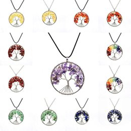 higher life Australia - High Quality 7 Chakra Life Tree Necklaces & Pendants For Women Natural Stone Alloy Chain Necklace Female Jewelry 16 Styles