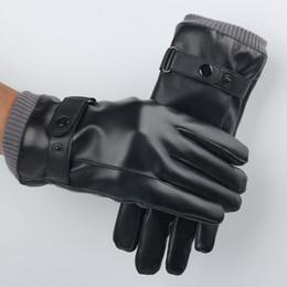 Leather Gloves For Men Australia - 2018 gloves for men and women in winter, warm touch, velvet cycling fashion gloves.