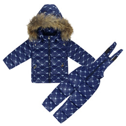 $enCountryForm.capitalKeyWord Canada - Winter Clothing Set for Girls Flowers Down Coat +Overalls Suits Warm Windproof Snowsuit Toddler Children Ski Suit Sintepon