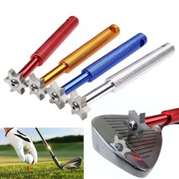 Fournitures de golf Nouveau 1 Pc 6 Lame Golf Iron Wedge Club Face Groove Outil Sharpener Cleaner Pour V U Carré