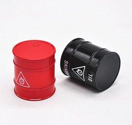 $enCountryForm.capitalKeyWord NZ - Creative modeling, oil drum, cigarette mill, 3 layer zinc alloy metal smoke grinder, manual smoke cutter.