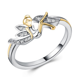Chinese  Crystal Fairy Girl Angel Ring Cluster Rings Fashion Jewelry for Women Kids Gift Drop Ship 080359 manufacturers