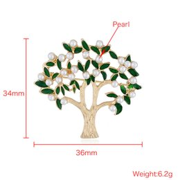 Mothers Pin Canada - 2018 New Women Jewelry Suit Brooch Pin Clothing Pin Personality Tree Brooch Pearl Wedding Dress Brooch Pins Fashional Accessories