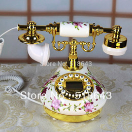 Chinese  Free shipping ceramic telephone rural antique telephone European phone restoring ancient ways manufacturers