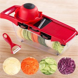 Potato dicer online shopping - Eco Friendly Mandoline Slicer Manual Vegetable Cutter Potato Slicer With Container Carrot Grater Julienne Onion Dicer Kitchen Accessories